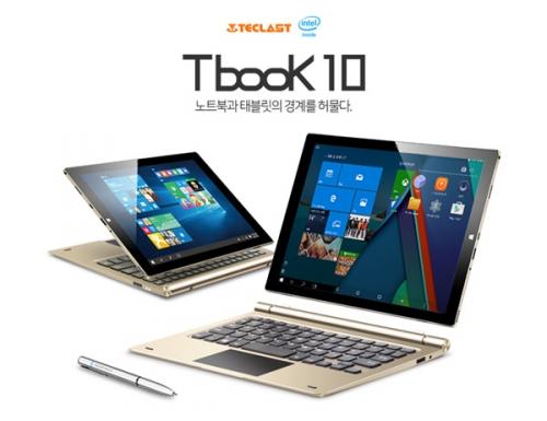 태클라스트코리아, 플래그 십 2in1 듀얼OS 태블릿 'tBook10 ' 공식 출시